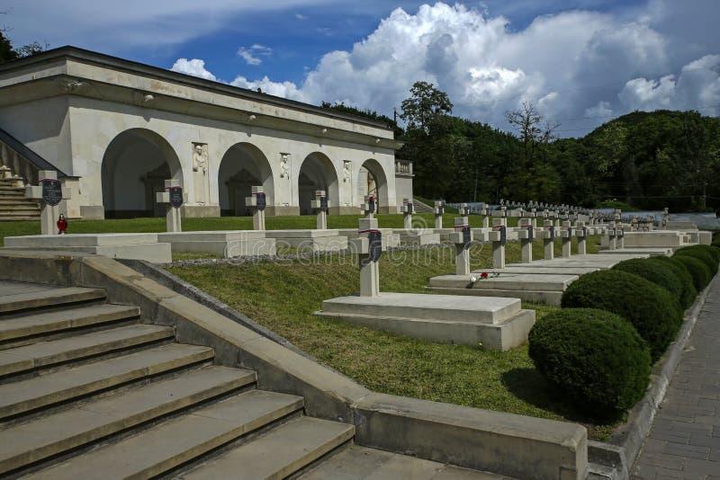 Кладбище Lwów Eaglets, части кладбища Lychakiv, Украины стоковая фотография rf