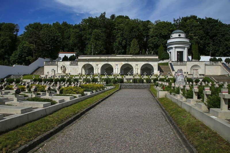 Кладбище Lwów Eaglets, части кладбища Lychakiv, Украины стоковое изображение