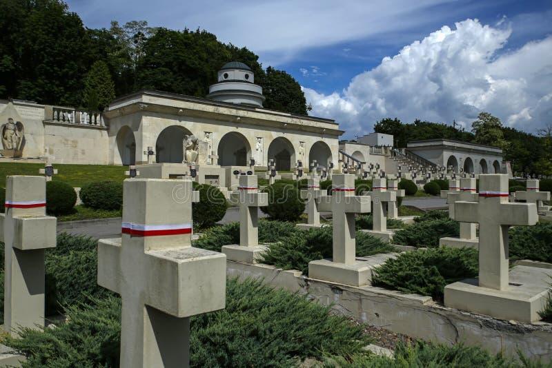 Кладбище Lwów Eaglets, части кладбища Lychakiv, Украины стоковое изображение rf