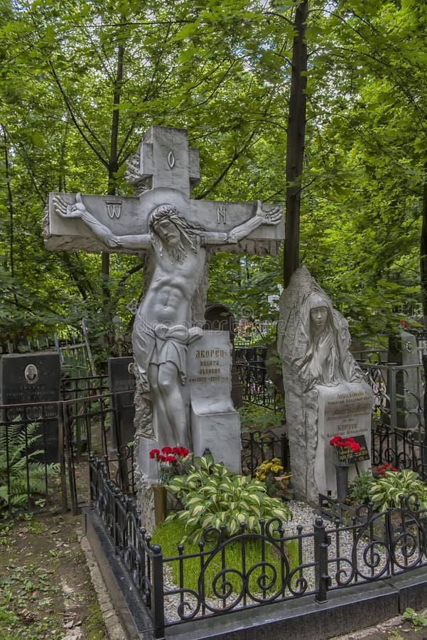 Кладбище Vagankovskoye в памятниках Москвы в кладбище на летний день стоковая фотография rf
