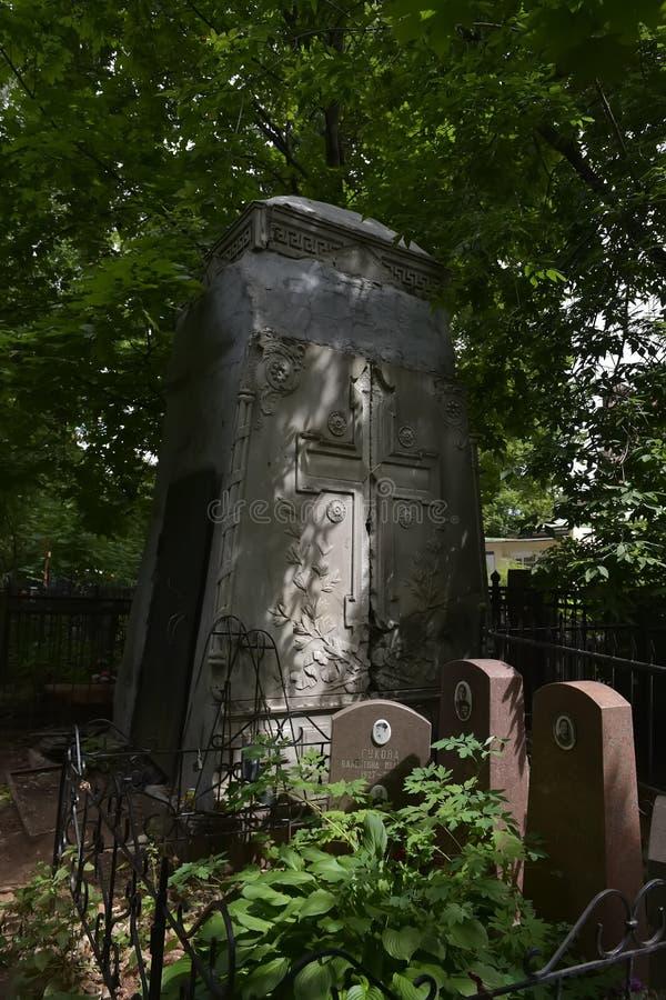 Кладбище Vagankovskoye в памятниках Москвы в кладбище на летний день стоковая фотография