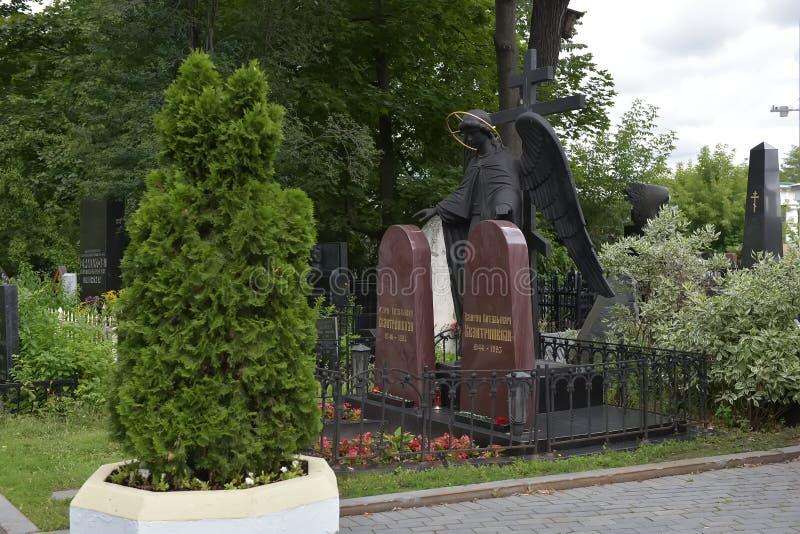 Кладбище Vagankovskoye в памятниках Москвы в кладбище на летний день стоковое фото