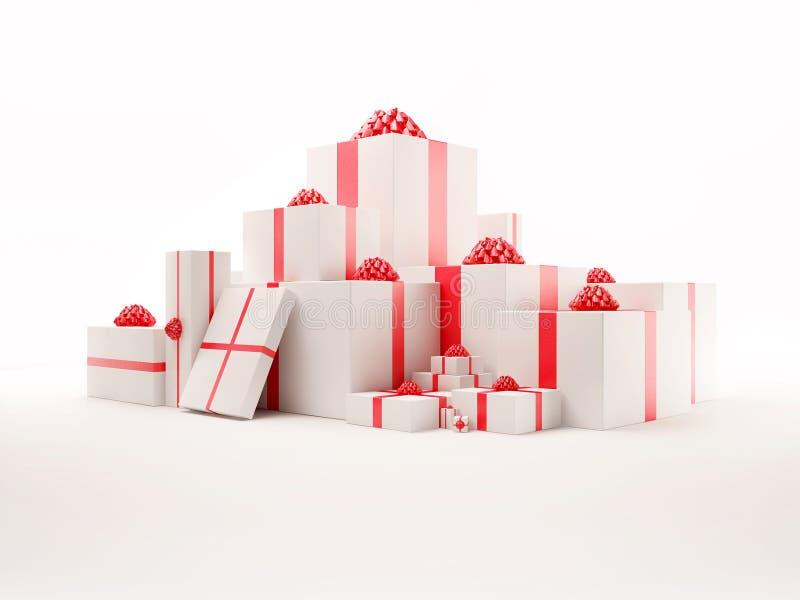 кладет комплект в коробку подарка славный бесплатная иллюстрация