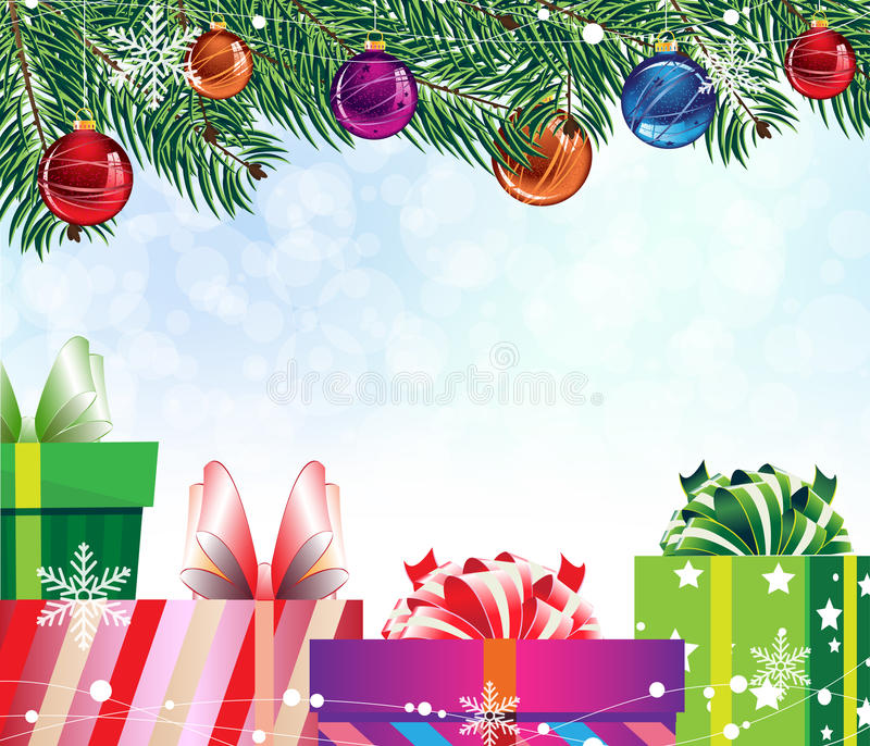 кладет цветастый подарок в коробку 4 иллюстрация вектора