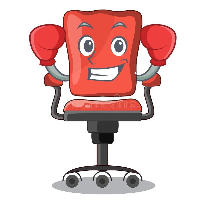 Кладя в коробку стул стола офиса характера в крытом бесплатная иллюстрация