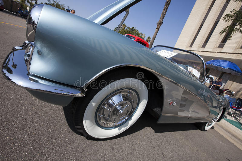 классика corvette автомобиля стоковые изображения