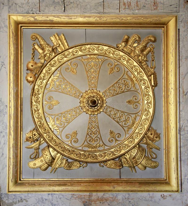 классицистическая дверь детали стоковые фотографии rf