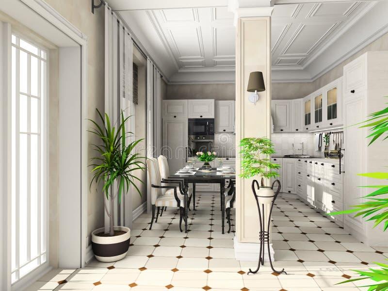 классицистическая кухня мебели бесплатная иллюстрация