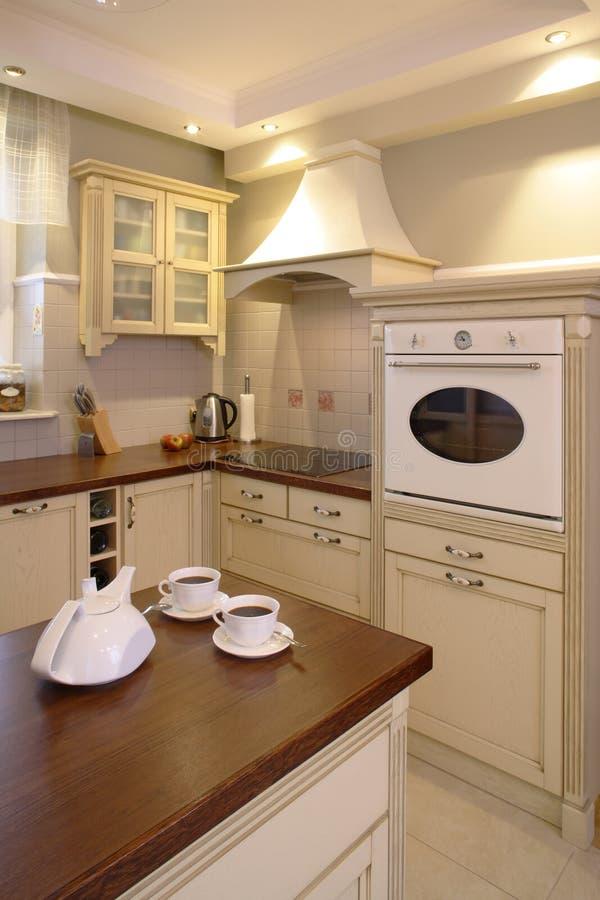классицистическая кухня стоковая фотография