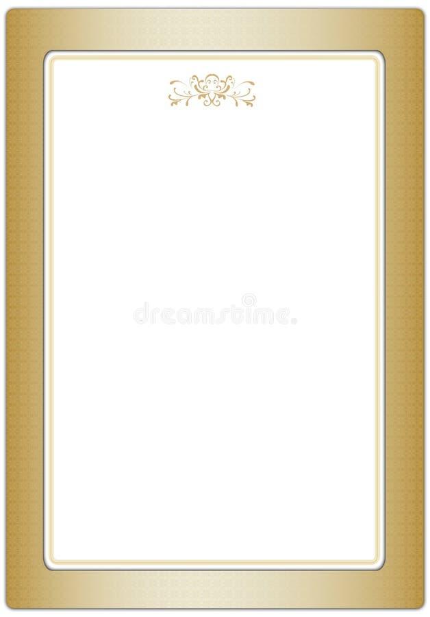 классицистическая рамка золотистая бесплатная иллюстрация