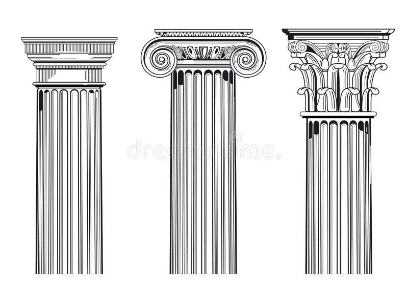 Классицистические архитектурноакустические колонки бесплатная иллюстрация
