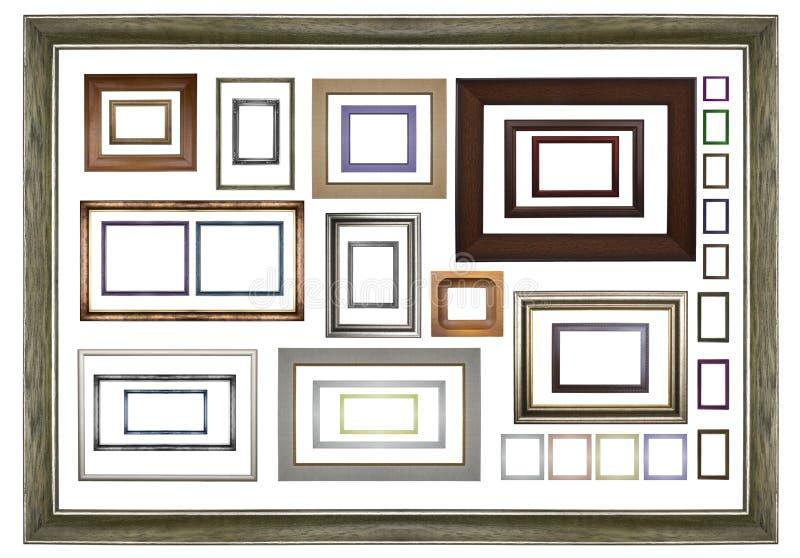 Классицистические деревянные рамки стоковая фотография