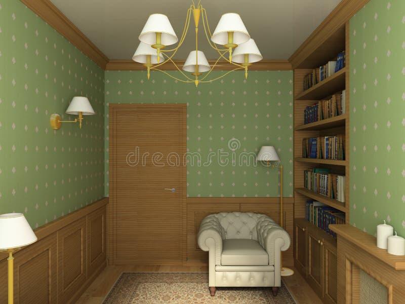 классицистический интерьер 3d представляет иллюстрация вектора