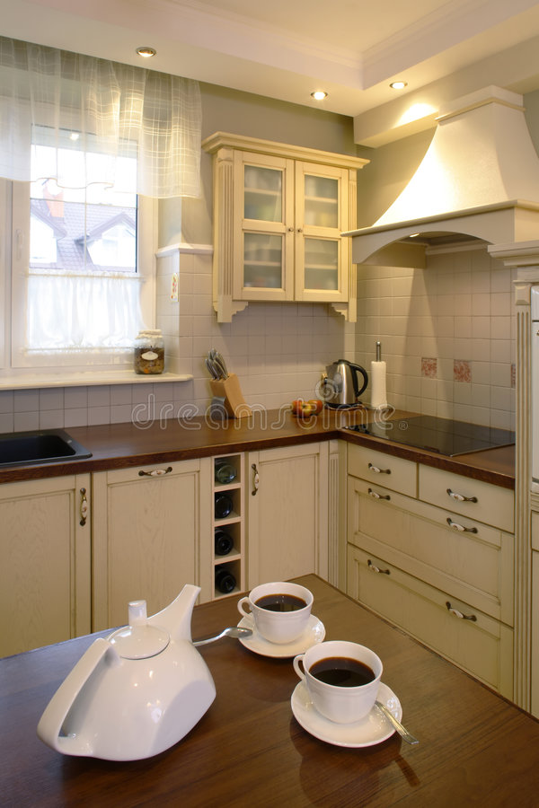 классицистический чай кухни стоковая фотография