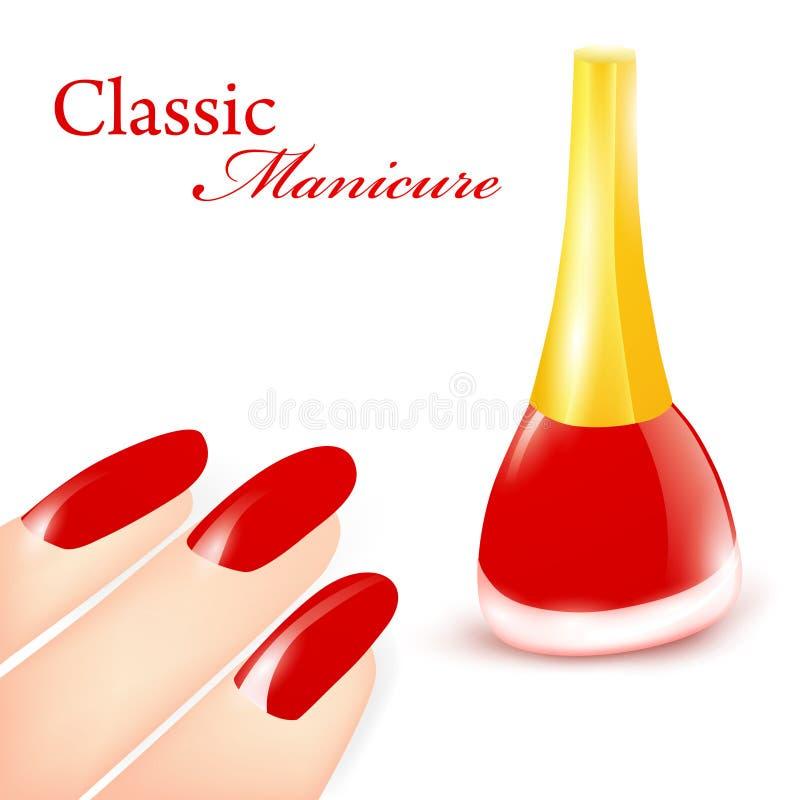 классицистический manicure иллюстрация вектора