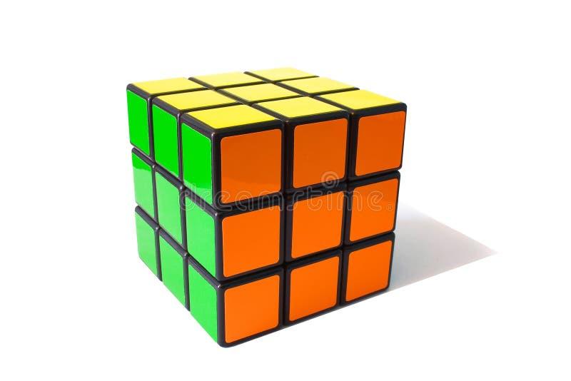 классицистическое rubik s кубика стоковое изображение