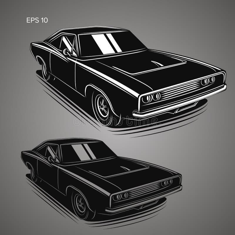 Классическая американская иллюстрация вектора автомобиля мышцы бесплатная иллюстрация