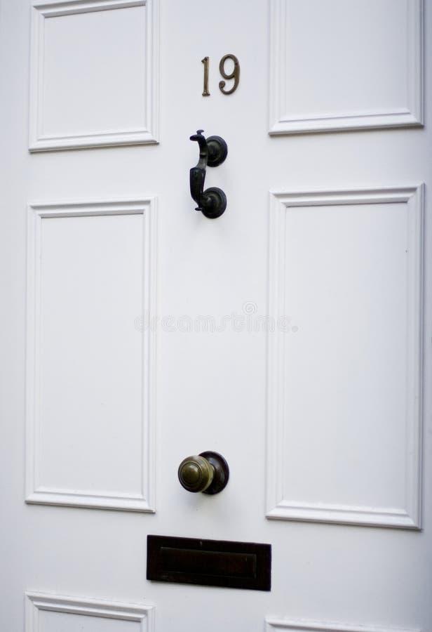 классическая белизна двери стоковое фото rf