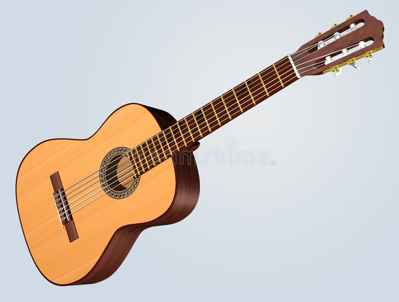 Download классическая гитара иллюстрация штока. иллюстрации насчитывающей джаз - 488867