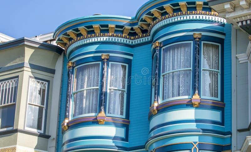 Классическая домашняя архитектура зданий Сан-Франциско, Калифорния стоковые изображения rf