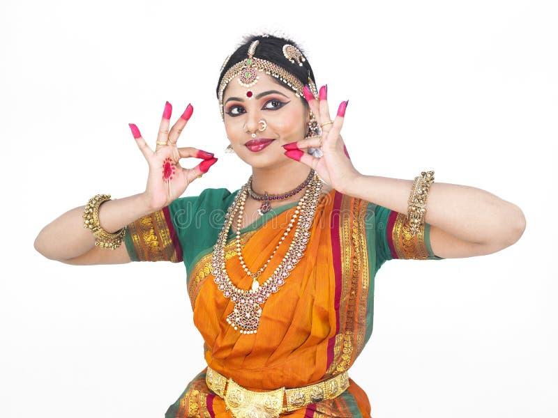 классическая женщина Индия танцора стоковые фото