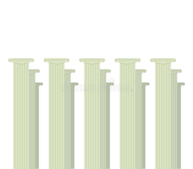 Классическая римская серая группа в составе столбцов образование сертификата объявления украшения 3 оформлений изолированная на б иллюстрация вектора