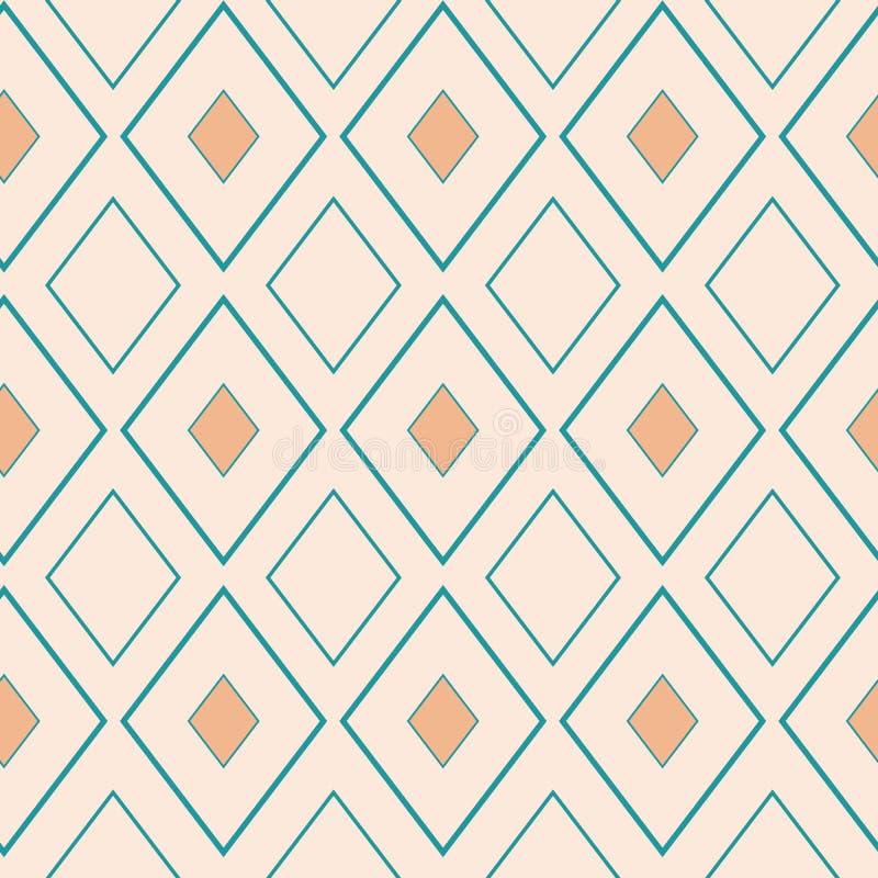 Классические золото и свет - дизайн голубого косоугольника геометрический Безшовная картина вектора на нейтральной предпосылке сл бесплатная иллюстрация