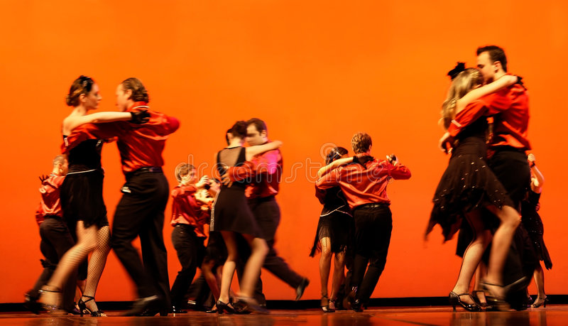 классические танцоры стоковая фотография
