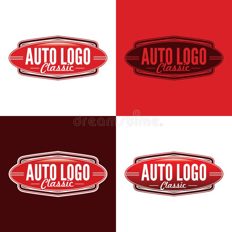 Классический автоматический логотип - иллюстрация вектора бесплатная иллюстрация