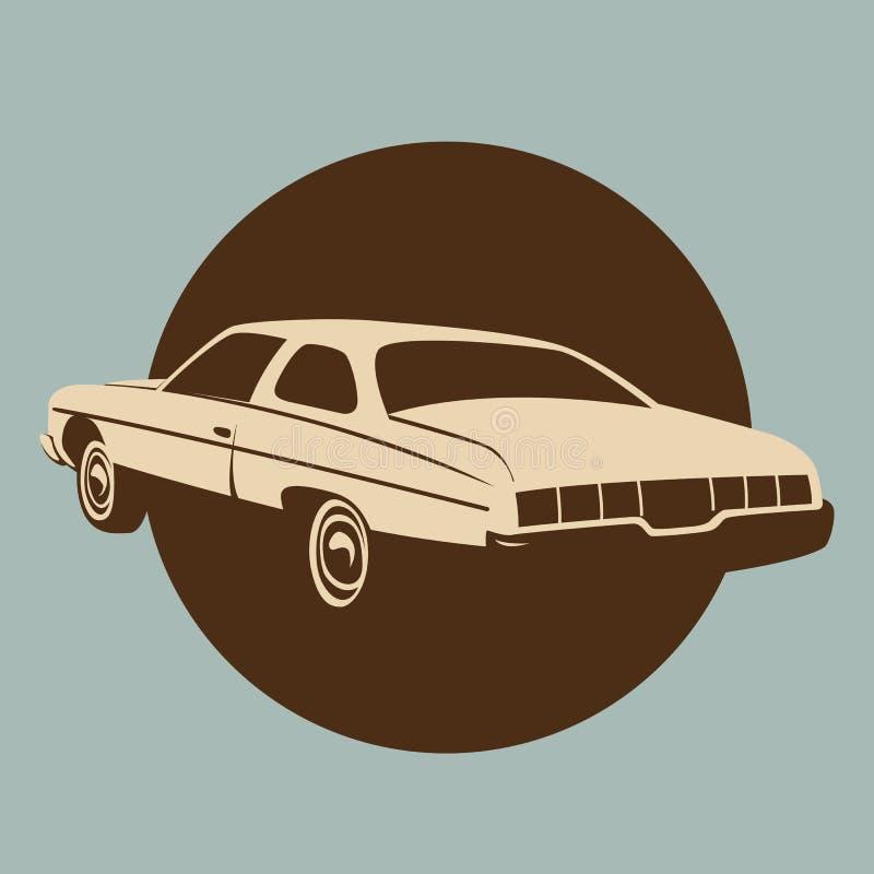 Классический американский автомобиль, иллюстрация вектора, взгляд профиля бесплатная иллюстрация