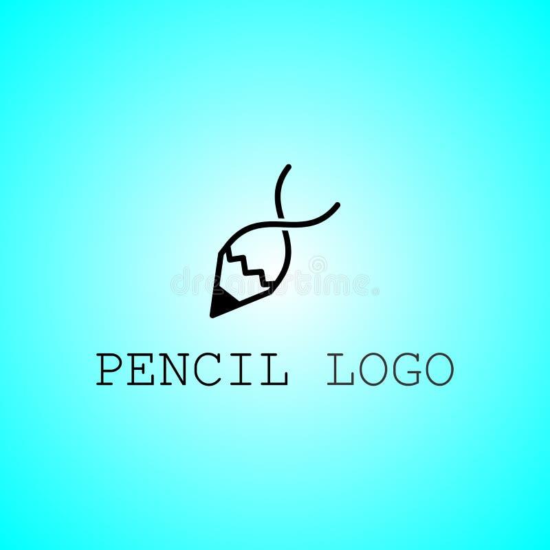Классический вектор логотипа карандаша для компании иллюстрация вектора