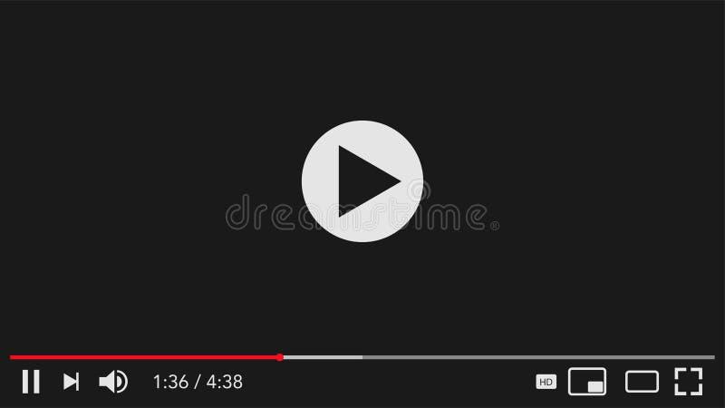 Классический видеоплеер для пара интернета иллюстрация штока