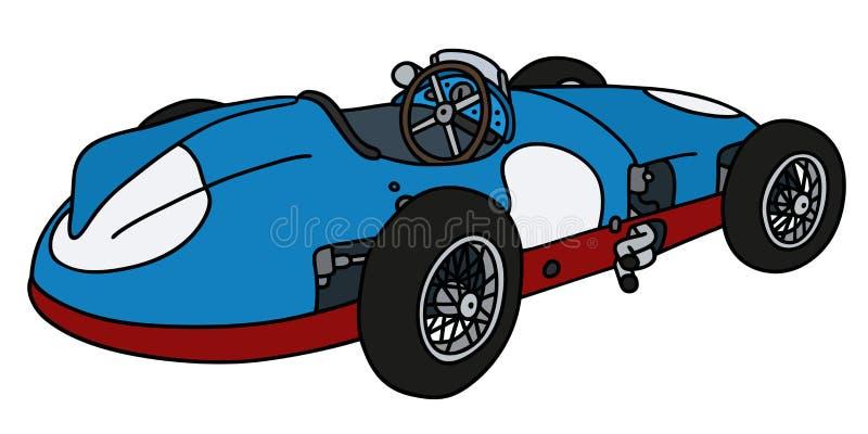 Классический голубой гоночный автомобиль бесплатная иллюстрация
