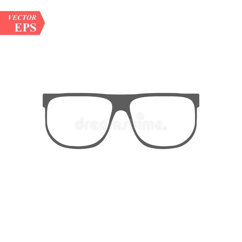 Классический значок стекел Значок элемента рамки Eyeglass Наградной качественный значок графического дизайна Знаки младенца, ico  иллюстрация вектора