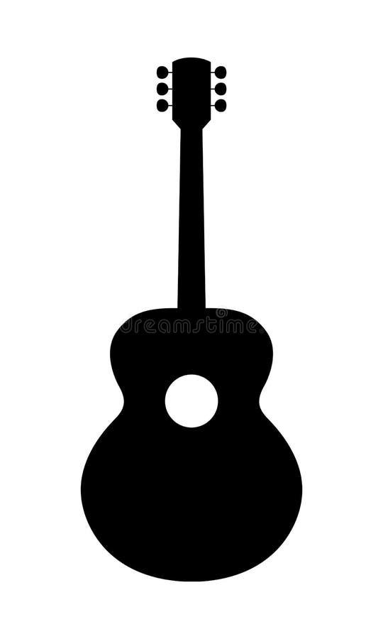 Классический силуэт гитары стоковая фотография rf