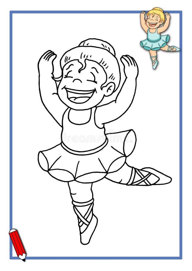 классический танцор цвета к иллюстрация штока