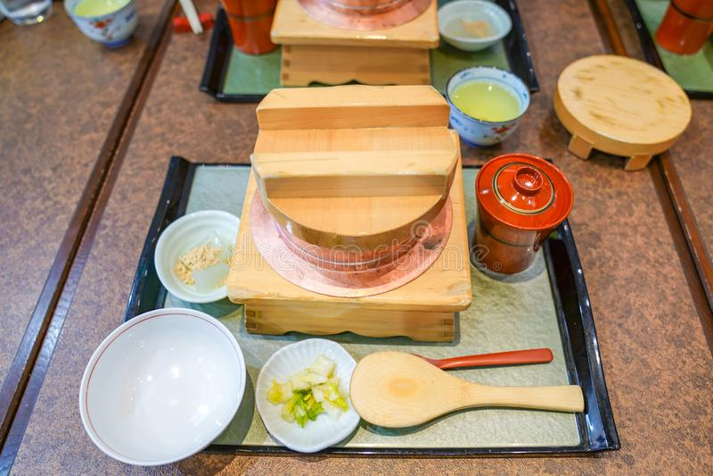 Классический традиционный набор японской кухни , Осака, Япония стоковые изображения