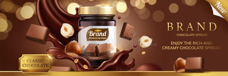 Классическое распространение шоколада бесплатная иллюстрация
