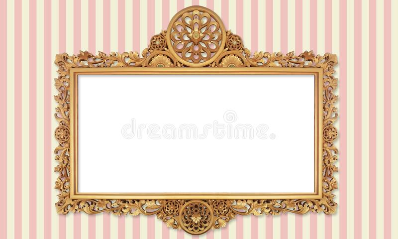 Классическое ретро фото старого золота или крася рамка в различной изолированной предпосылке 69 50 стоковые фотографии rf