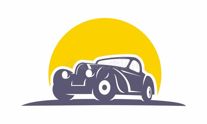 Классическое oldschool логотипа автомобиля стоковые фото