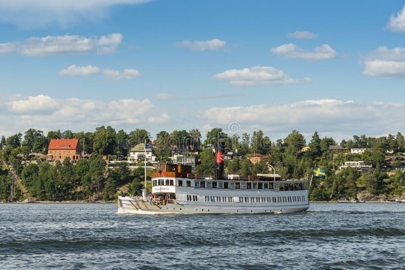 Классическое passengership Gustavsberg VII Стокгольм Швеция стоковая фотография rf