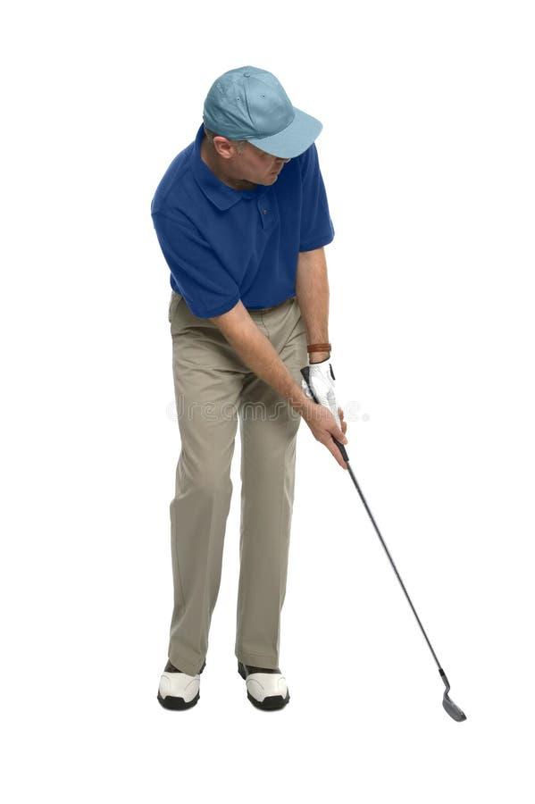 класть игрока в гольф стоковые фото