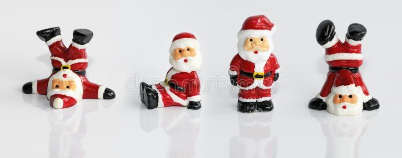 клаузула santa изолированный figurine стоковая фотография