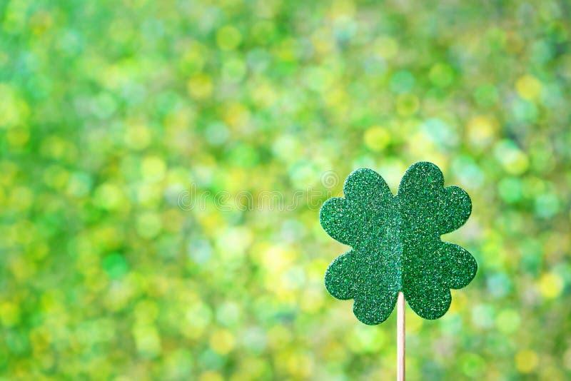 Клевер дня Patricks Святого сияющий зеленый стоковые фото