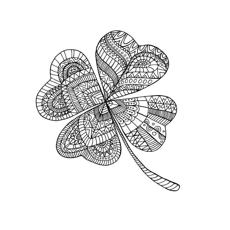 Клевер книжка-раскраски, на день St. Patrick s иллюстрация штока