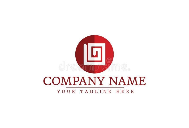 Клеймя идентичность корпоративный дизайн логотипа иллюстрация вектора