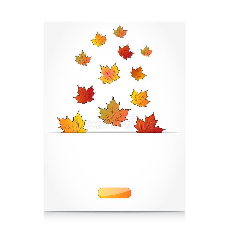 Кленовые листы падения, предпосылка осени иллюстрация вектора