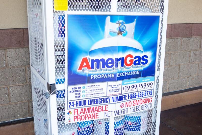 Клетка обменом пропана Amerigras стоковые изображения