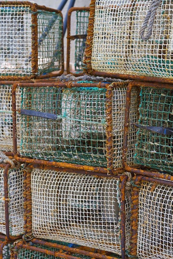 Клетка рыбной ловли стоковые изображения