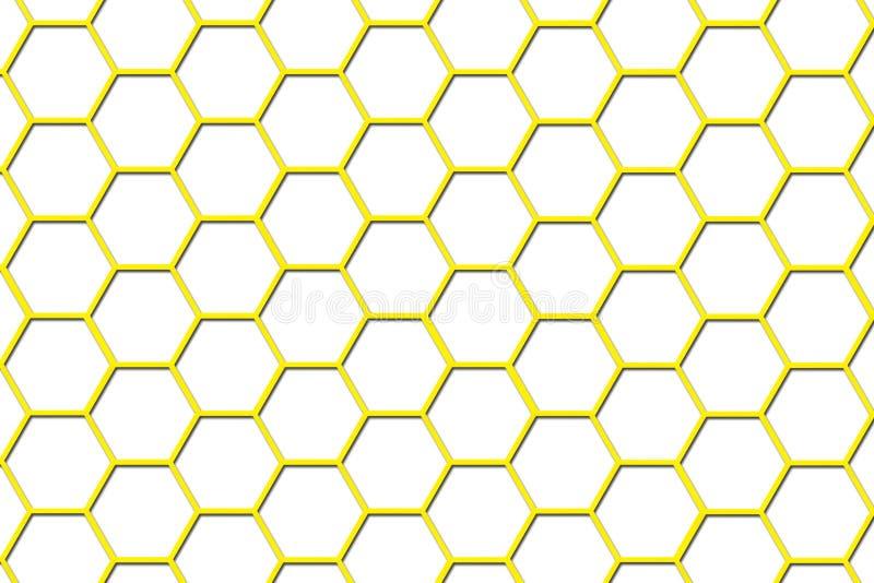 клетки пчелы предпосылки hive малое иллюстрация штока